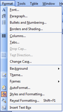 Styles and Formatting 2003